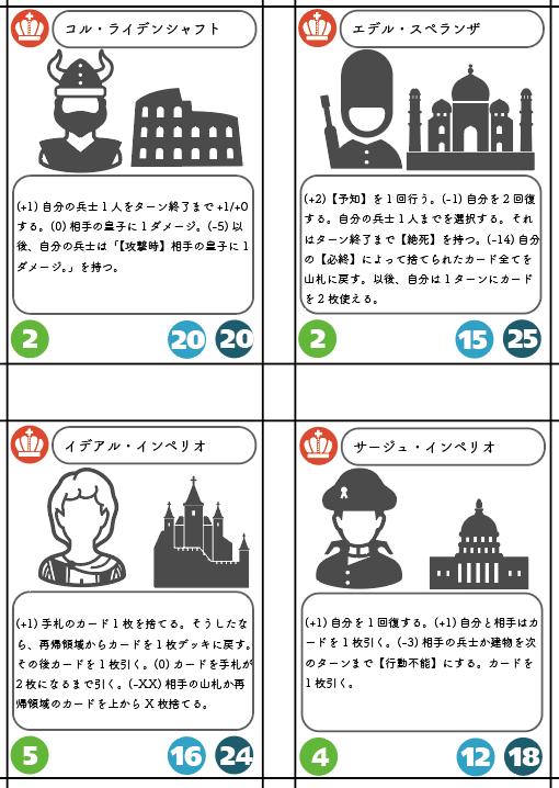 カードゲームを作る②~ルールの調整とベースの設定~